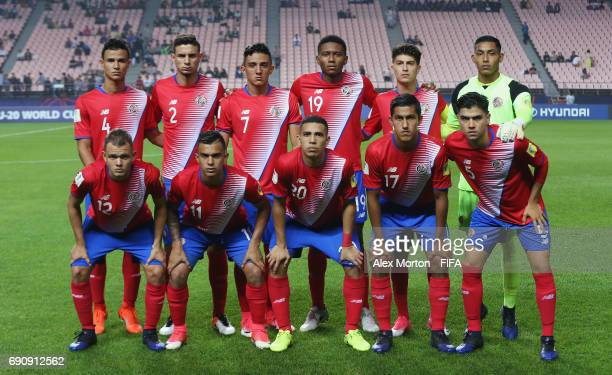 Costa Rica players pose for a team photo prior to the FIFA U20 World Cup Korea Republic 2017 Round of 16 match between England and Costa Rica at...