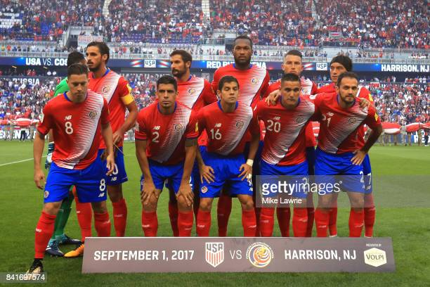Costa Rica pose for a team group photo before the FIFA 2018 World Cup Qualifier against the United States at Red Bull Arena on September 1 2017 in...