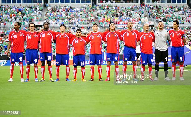 Costa Rica poses for their team picture for Match 7 against El Salvador during the CONCACAF Gold Cup 2011 at Bank of America Stadium in Charlotte...