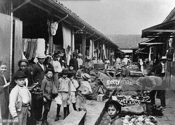 Costa Rica San Jose market place published in 1921
