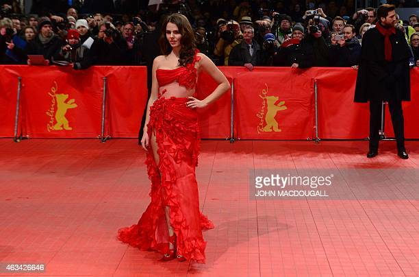 Costa Rican born German actress Ruby O Fee arrives on the red carpet for the closing ceremony of the 65th International Film Festival Berlinale in...