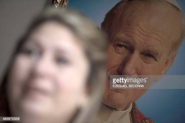 Costa Rican Floribeth Mora speaks during an interview with AFP on March 26 2014 at her residence in Dulce Nombre de Cartago Cartago Costa Rica Her...
