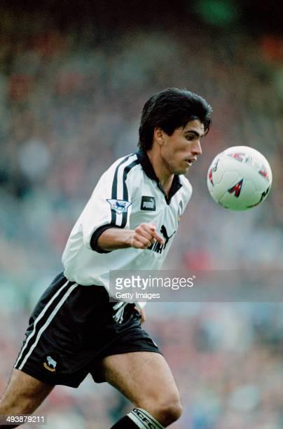 Costa Rican footballer Mauricio Solis of Derby County FC circa 1997