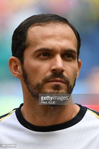 Costa Rica's forward Marco Urena looks on ahead of the Russia 2018 World Cup Group E football match between Brazil and Costa Rica at the Saint...