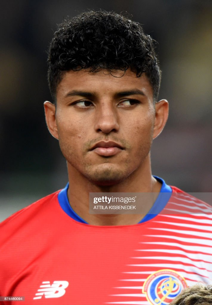 Costa Rica's Johan Venegas vies prior to a friendly football match against Hungary on Nocember 14, 2017 in Groupama Arena of Budapest. /