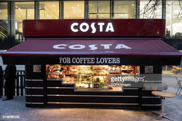 Costa store seen in London famous Oxford street Central London is one of the most attractive tourist attraction for individuals whose willing to shop...