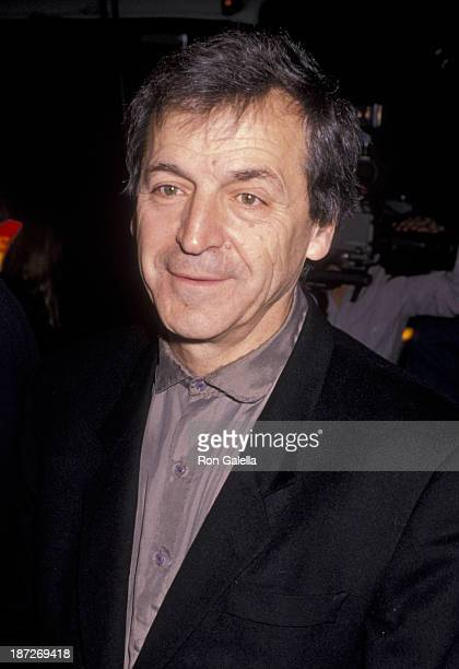 CostaGavras attends the premiere of 'Music Box' on December 8 1989 at the Academy Theater in Beverly Hills California