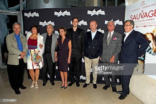 CostaGavras President of La Cinematheque francaise Alejandra Skira Secretaire generale of Fonds Culturel Franco Americain Michel Legrand Carole Amiel...