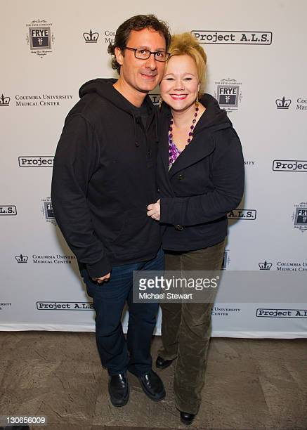 Costaki Economopoulos and actress Caroline Rhea attend the 2011 Project ALS Tomorrow Is Tonight Benefit at Lucky Strike Lanes Lounge on October 27...