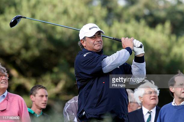 Costantino Rocca of Italy in action during round one of the Van Lanschot Senior Open at Royal Haagsche Golf and Country Club on June 24 2011 in The...