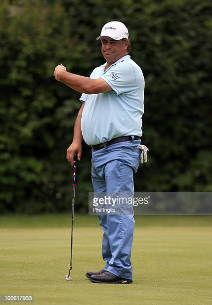 Costantino Rocca of Italy in action during the final round of the Bad Ragaz PGA Seniors Open played at Golf Club Bad Ragaz on July 4 2010 in Bad...