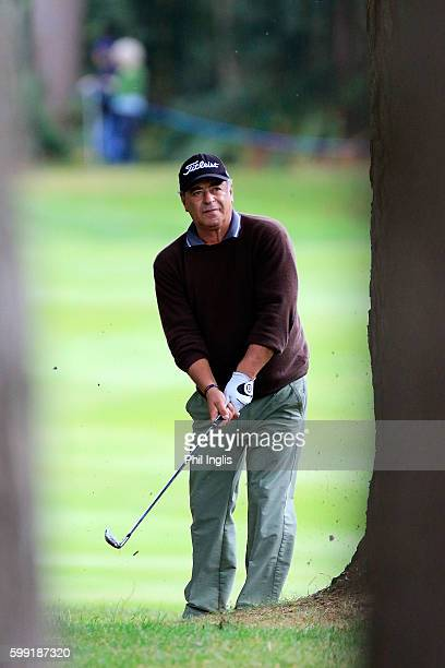 Costantino Rocca of Italy in action during the final round of the Travis Perkins Masters played on the Duke's Course Woburn Golf Club on September 4...