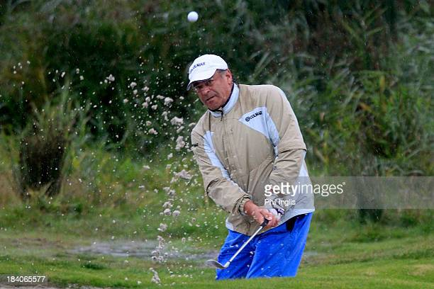 Costantino Rocca of Italy in action during the first round of the Dutch Senior Open played at The International Golfclub on October 11 2013 in...
