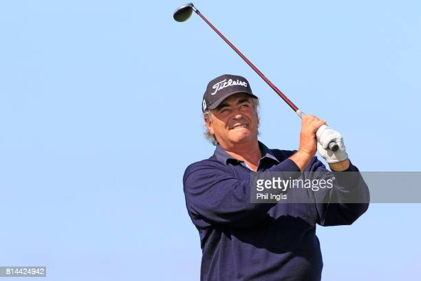 Costantino Rocca of Italy in action during the first round of the WinstonGolf Senior Open played on the Links Course WinstonGolf on July 14 2017 in...
