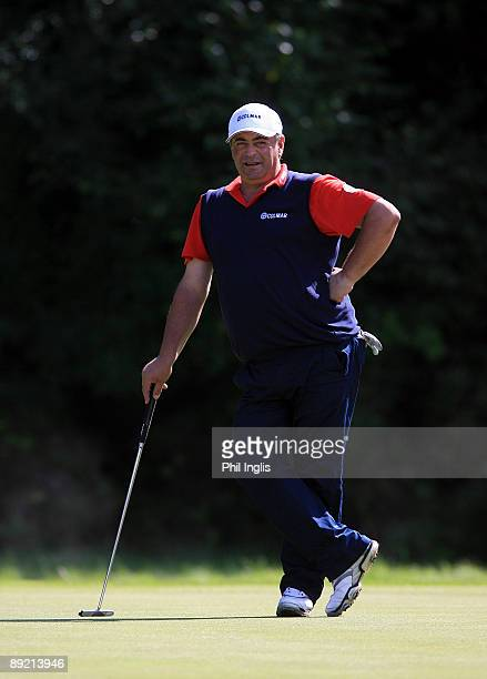 Costantino Rocca of Italy in action during the first round of The Senior Open Championship presented by MasterCard held on the Old Course Sunningdale...
