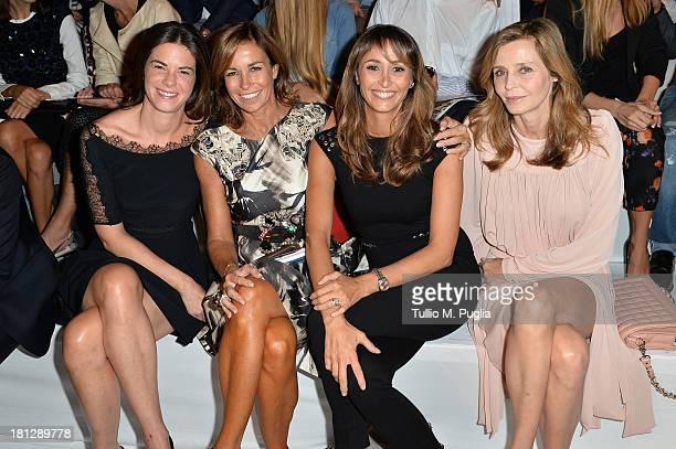 Costanza Calabrese Cristina Parodi Benedetta Parodi and Eliana Miglio attend the Blumarine show as a part of Milan Fashion Week Womenswear...