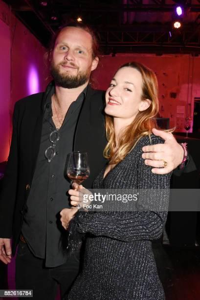 Costanza Canali and Guilhem de Castelbajac attend Nektart Wine Party at Palais de Tokyo Art Club on November 29 2017 in Paris France