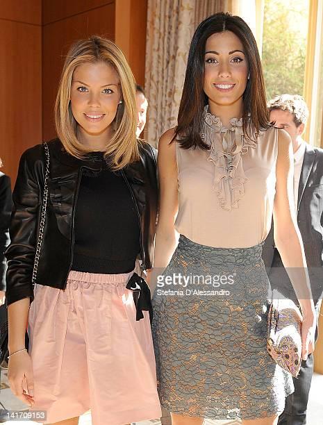 Costanza Caracciolo and Federica Nargi attend 2011 Premio E' Giornalismo Ceremony at Hotel Four Season on March 22, 2012 in Milan, Italy.