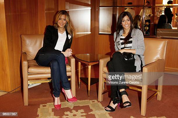 Costanza Caracciolo and Federica Nargi attend E' Giornalismo 2009 Awards held at Four Seasons Hotel on March 24 2010 in Milan Italy