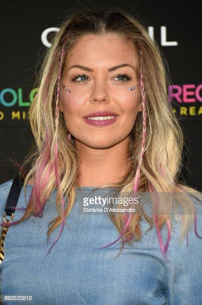 Costanza Caracciolo attends a cocktail celebrating the Cotril Salons anniversary on June 7, 2017 in Milan, Italy.