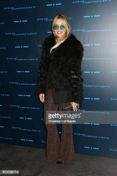 Costanza Caracciolo attends Starlight An event by Italia Independent on February 25 2018 in Milan Italy