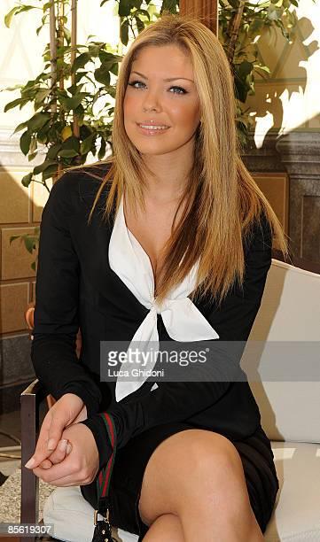 Costanza Caracciolo attends the 2008 E' Giornalismo award on March 26 2009 in Milan Italy Attilio Bolzoni of 'la Repubblica' newspaper won this years...