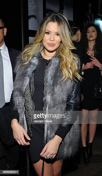 Costanza Caracciolo attends 'The Faces' Opening Exhibition on February 17, 2014 in Milan, Italy.