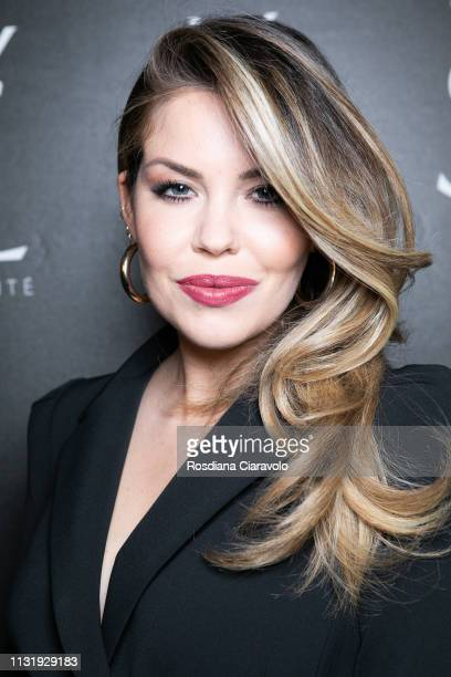 Costanza Caracciolo poses at the YSL Beauty Club Milan during Milan Fashion Week Autumn/Winter 2019/20 on February 24 2019 in Milan Italy