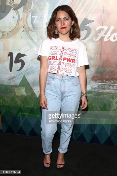 Costanza Castro attends the 15th Annual Oscar Qualifying HollyShorts Film Festival - Opening Night Gala at TCL Chinese 6 Theatres on August 08, 2019...