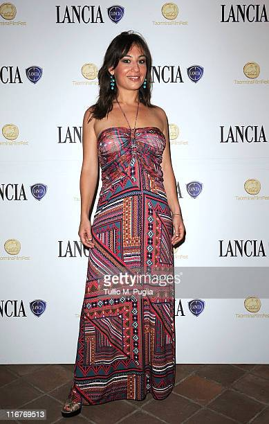 Costanza D'Ardia attends a cocktail party hosted by the Lancia Cafe during the 57th Taormina Film Fest on June 17 2011 in Taormina Italy