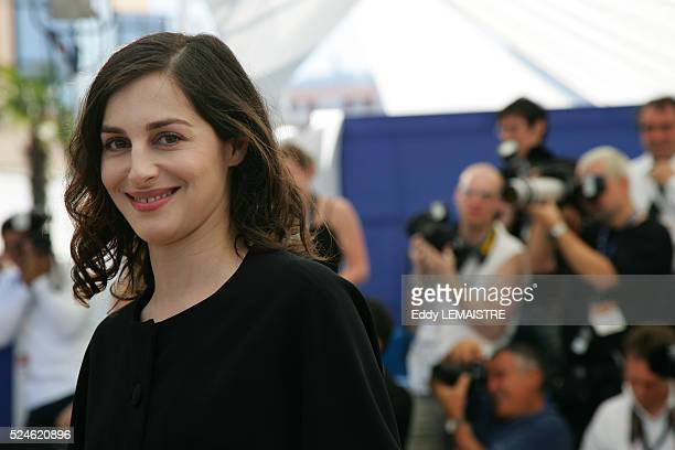 Costar Amira Casar at the photocall of 'Transylvania' presented in the Out of Competition category during the 59th Cannes Film Festival