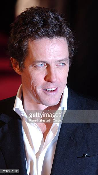 Costar Hugh Grant attends the premiere of Bridget Jones The Edge of Reason at the Odeon Leicester Square