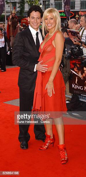 Costar Ioin Gruffudd and Alice Evans attend the premiere of 'King Arthur' at the Empire Leicester Square