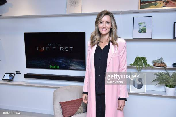 Costar of the new Hulu Original Series The First Natascha McElhone attends Hulu's The First New York Activation with Samsung at Samsung 837 on...