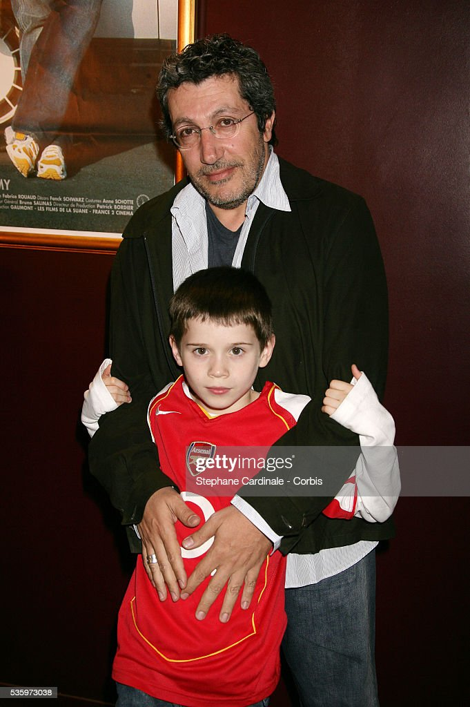 Co-stars Alain Chabat and Martin Combes attend the premiere of 'Papa' in Paris.