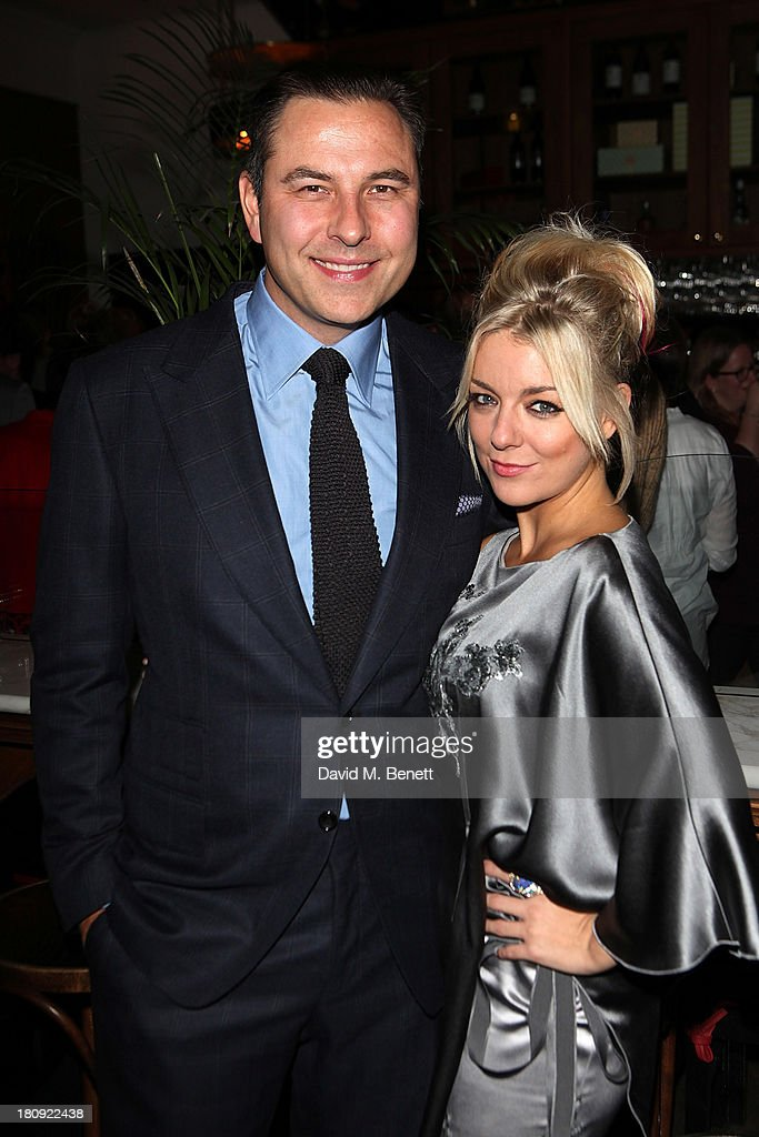 Co-stars David Walliams and Sheridan Smith attend an after party following the press night performance of 'A Midsummer Night's Dream' at The National Cafe on September 17, 2013 in London, England.