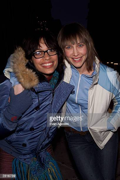 "Co-stars Rosario Dawson and Vera Farmiga arrive at a party for their film ""Love In The Time Of Money"" at the 2002 Sundance Film Festival in Park..."