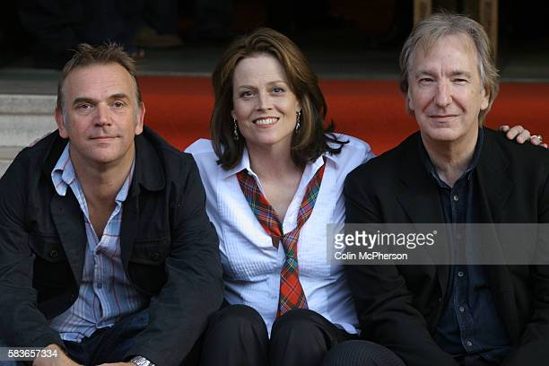 Costars Sigourney Weaver and Alan Rickman and director Marc Evan pictured at the Dominion Cinema in Edinburgh for the premiere of their latest film...