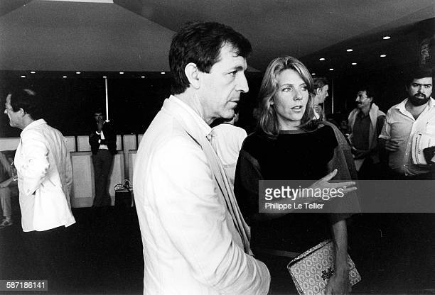 Costas Gavras and Jill Clayburgh at the Venice Film Festival for the movie 'Hannah K' Italy 1983