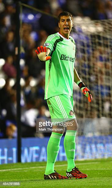 Costel Pantilimon of Sunderland during the Capital One Cup second round match between Birmingham City and Sunderland at St Andrews on August 27 2014...