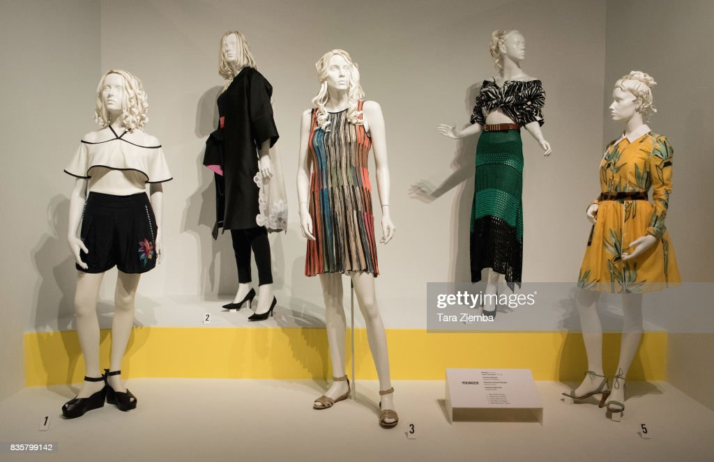 Costuemes from the show 'Younger' on display at the media preview of the 11th annual 'Art Of Television Costume Design' exhibition at FIDM Museum & Galleries on the Park on August 19, 2017 in Los Angeles, California.