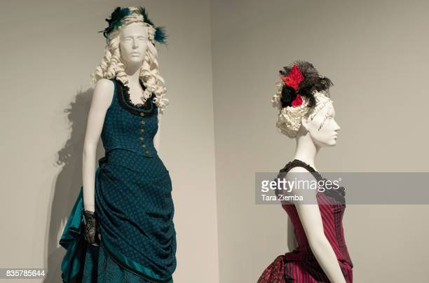Costuems of the Emmy nominated show 'Westworld' on display at the media preview of the 11th annual 'Art Of Television Costume Design' exhibition at...