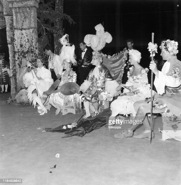 Costume ball hosted by George de Cuevas in Biarritz, France, Tuesday 1st September 1953; pictured: Marquis de Cuevas holds court at ball.