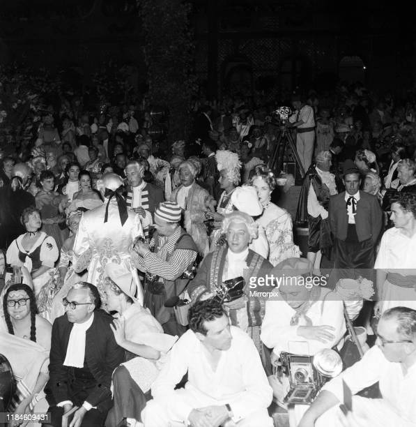 Costume ball hosted by George de Cuevas in Biarritz France Tuesday 1st September 1953 pictured guests and media at ball