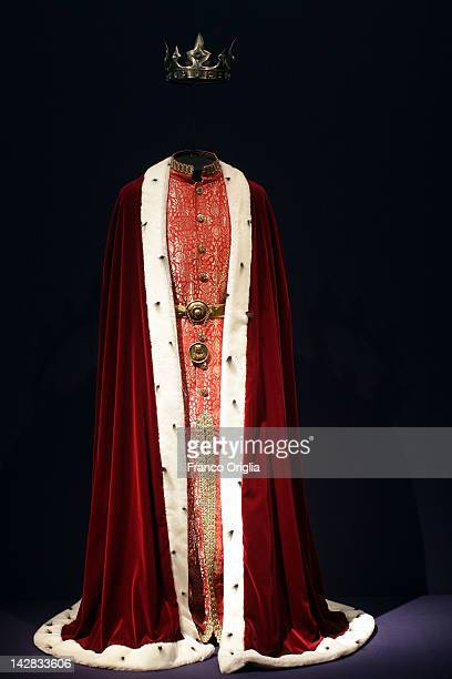 A costume created by HM Queen Margrethe II of Denmark at the Museo Nazionale Romano of Palazzo Massimo alle Terme during the opening exhibition of...