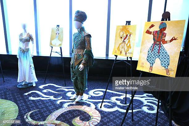 Costume design at the 'Aladdin' Broadway Cast And Creative Team Press Preview at Mandarin Oriental Hotel on February 18 2014 in New York City