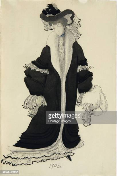 Costume design for Mrs L Bakst 1903 Found in the collection of the State Tretyakov Gallery Moscow