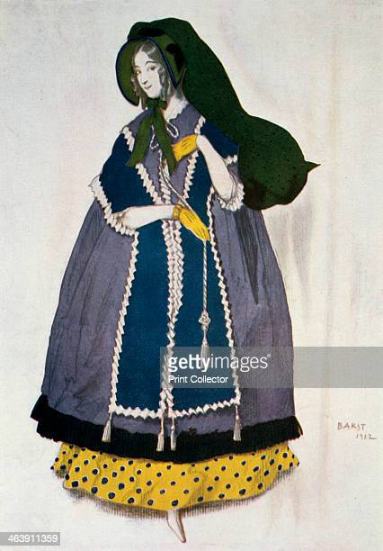 Costume design for the ballet Les Papillons 1912 From a private collection