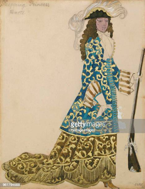 Costume design for the ballet Sleeping Beauty by P Tchaikovsky 1921 Private Collection