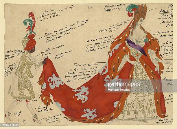 Costume design for the ballet Sleeping Beauty by P Tchaikovsky Private Collection